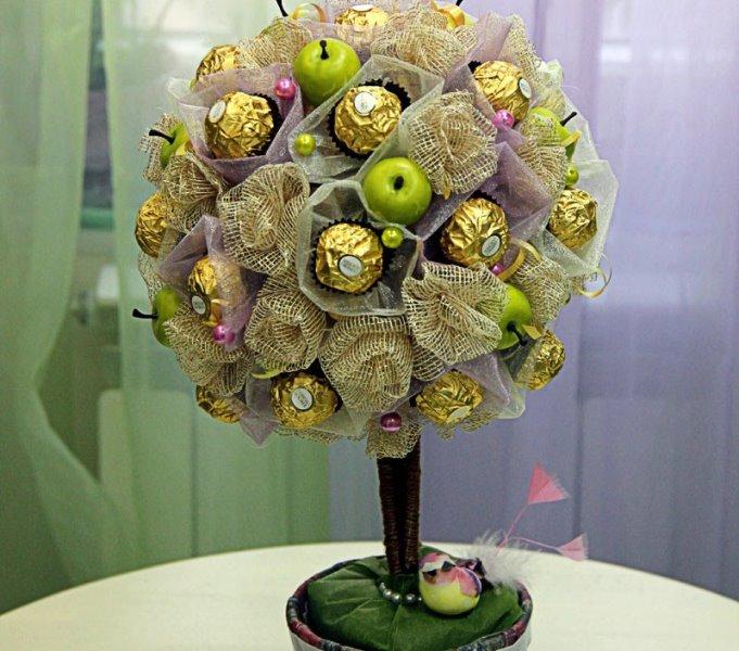 Дерево из конфет своими руками 49