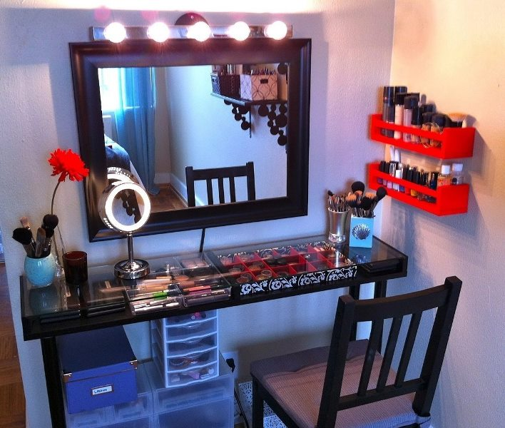Modern makeup vanity