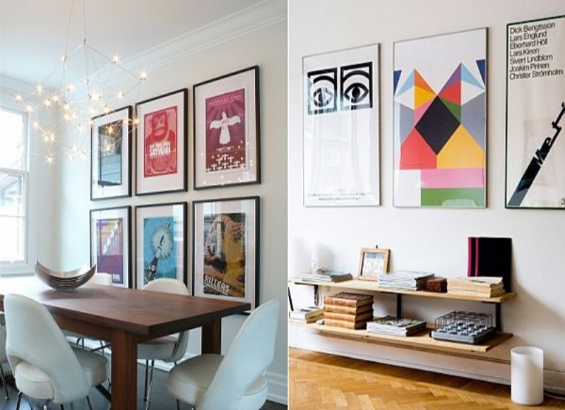 Decorating with old movie posters