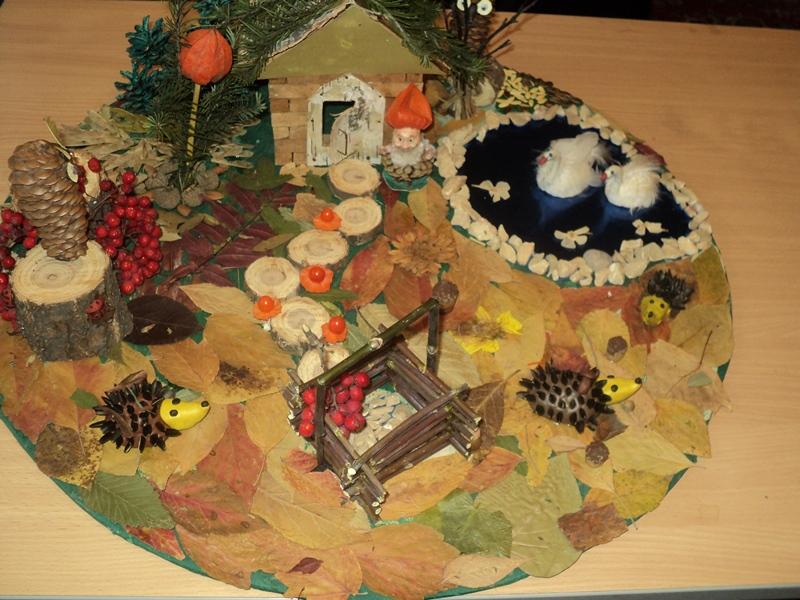 Поделка на тему осень своими руками из природного материала фото