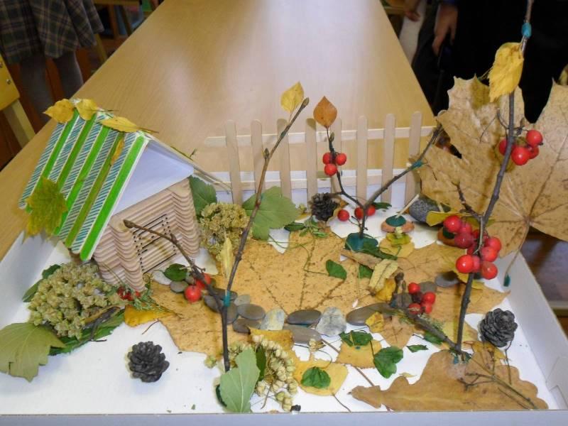 Поделка из природных материалов для выставки