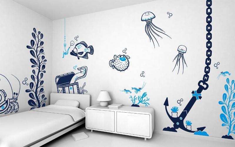 Нарисованное изображение на стене