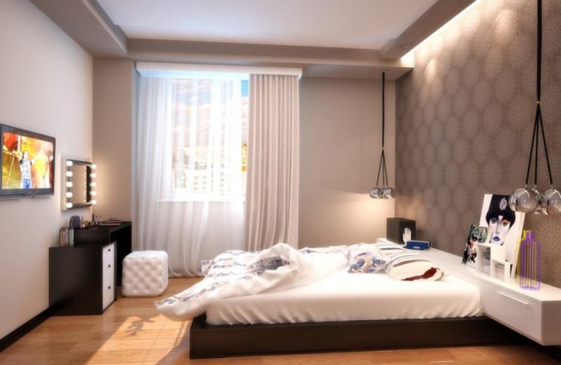 Дизайн спальной комнаты 12 кв.м фото в панельном доме