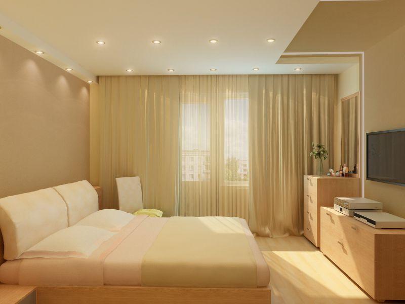 Как сделать натяжной потолок в спальни 490