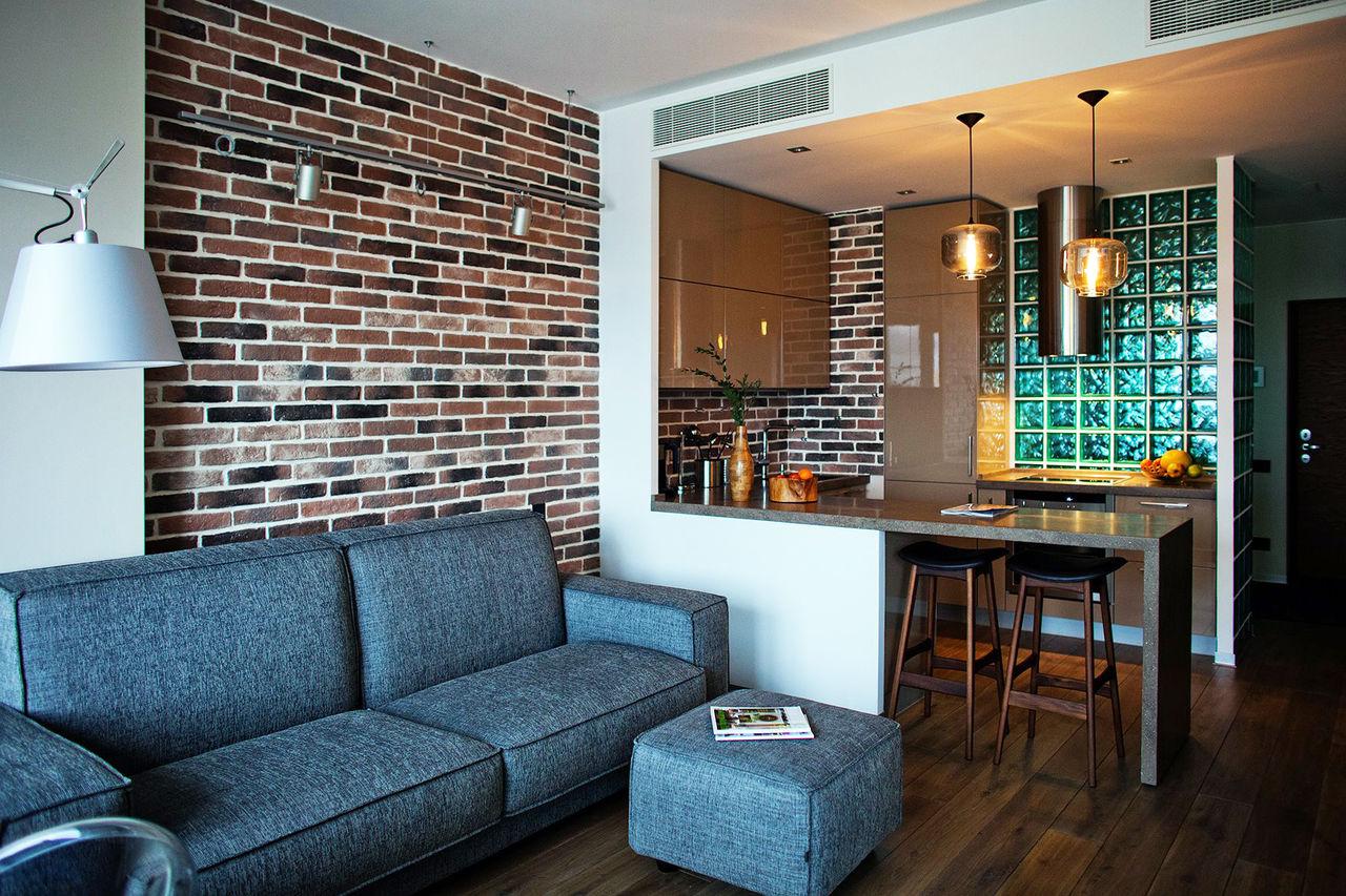 Дизайн декоративного кирпича в квартире