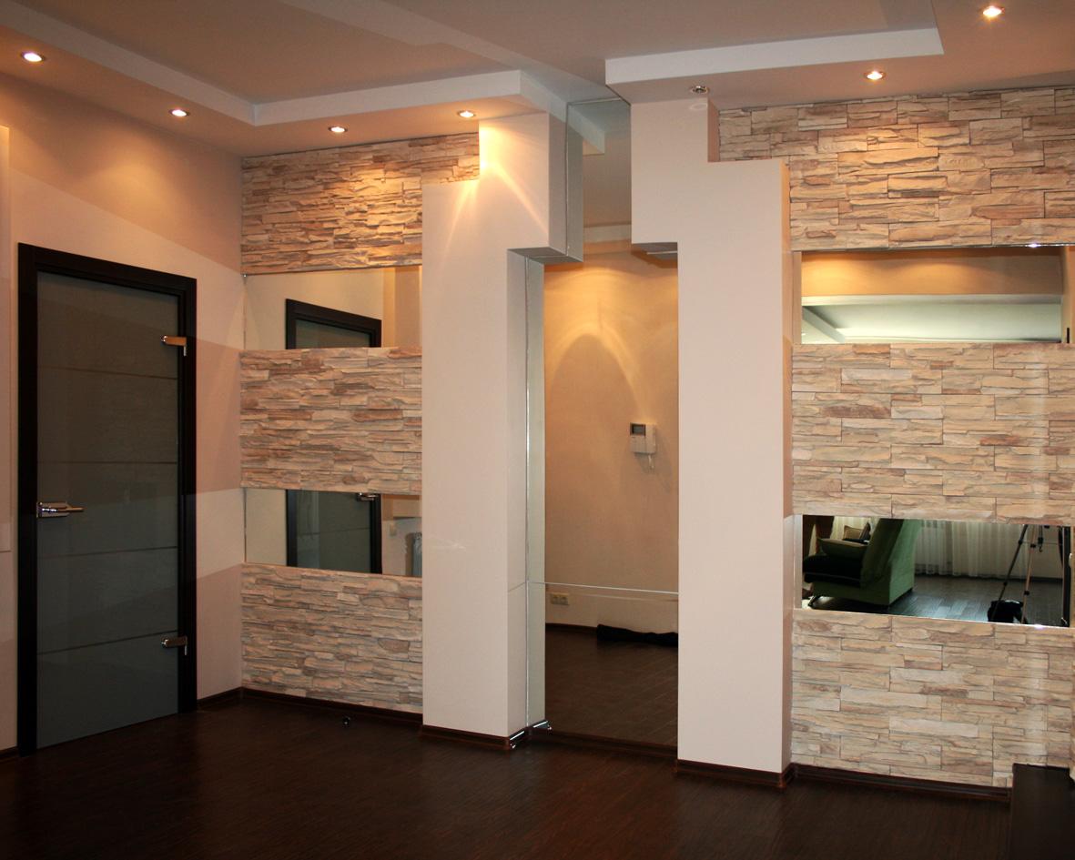 Отделка стен камнем дизайн