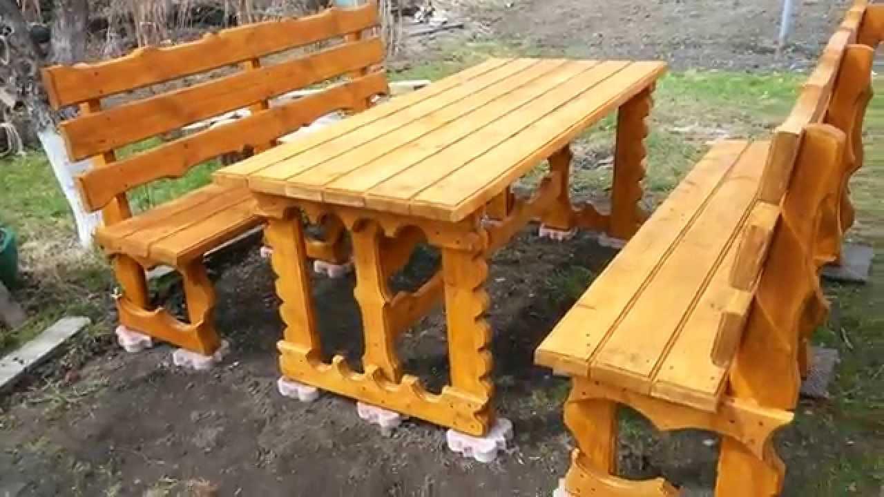 Мебель садовая своими руками в домашних условиях