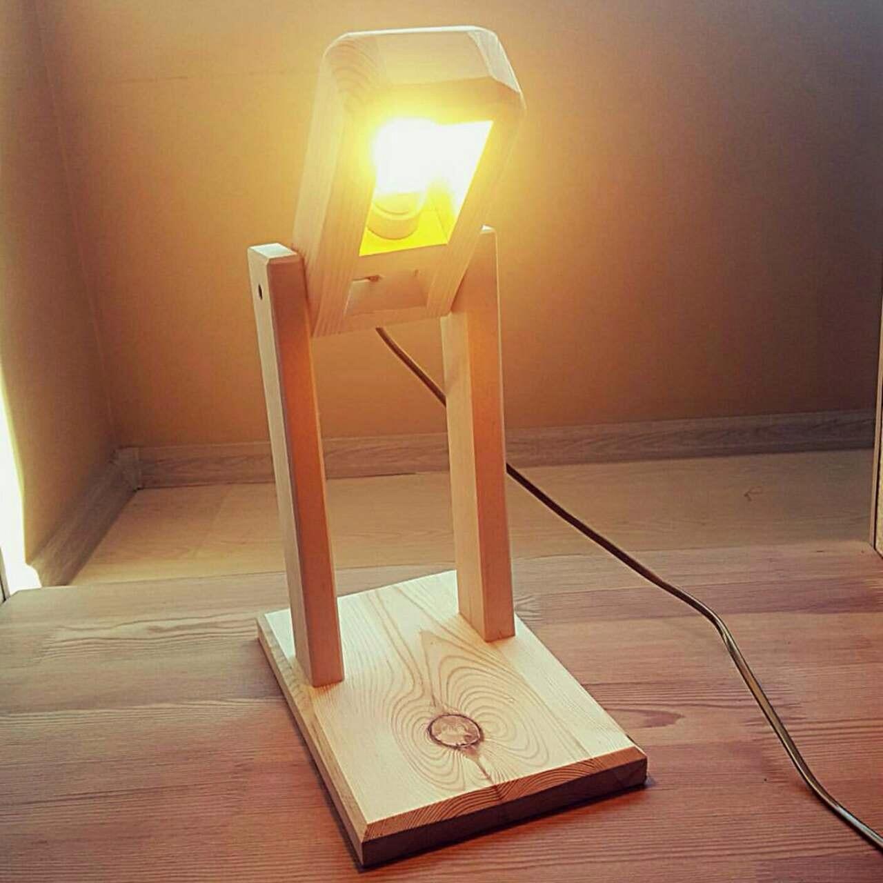 Сделать светильник своими руками настольный