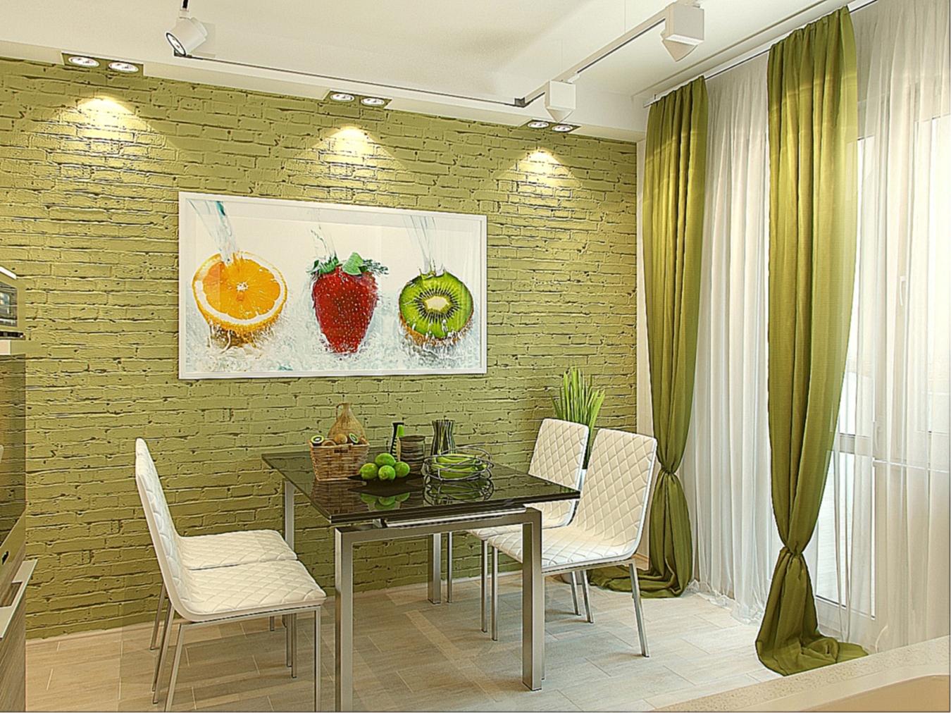 Оформление стен кухни дизайн кухни фото