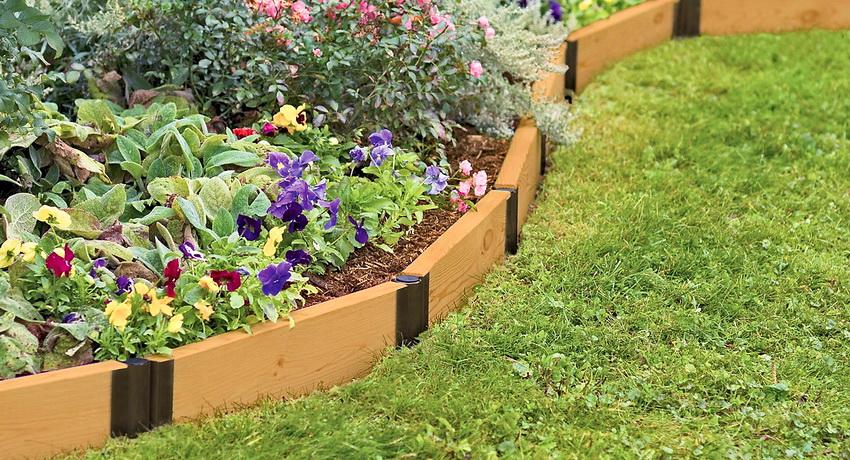 Садовые ограждения для клумб и грядок своими руками фото 7