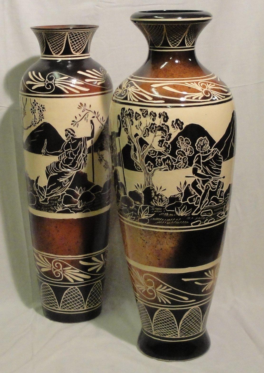 Ваза напольная керамическая своими руками