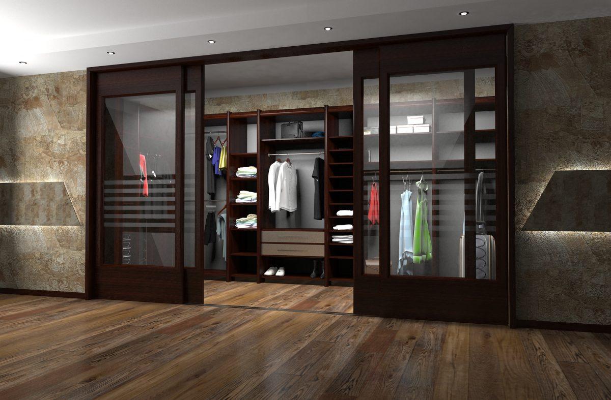Раздвижные двери в гардеробную комнату своими руками 37