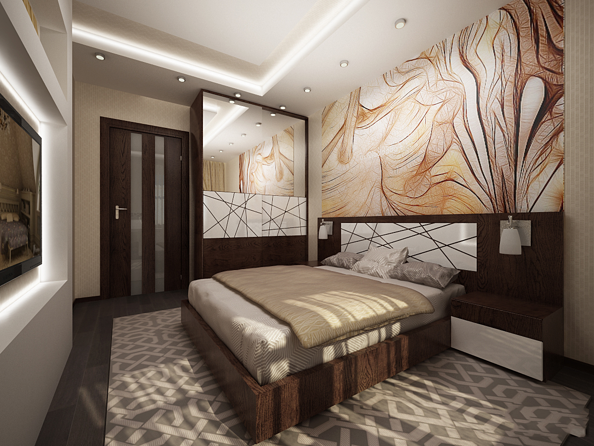 Дизайн спальни 9 метров реальные