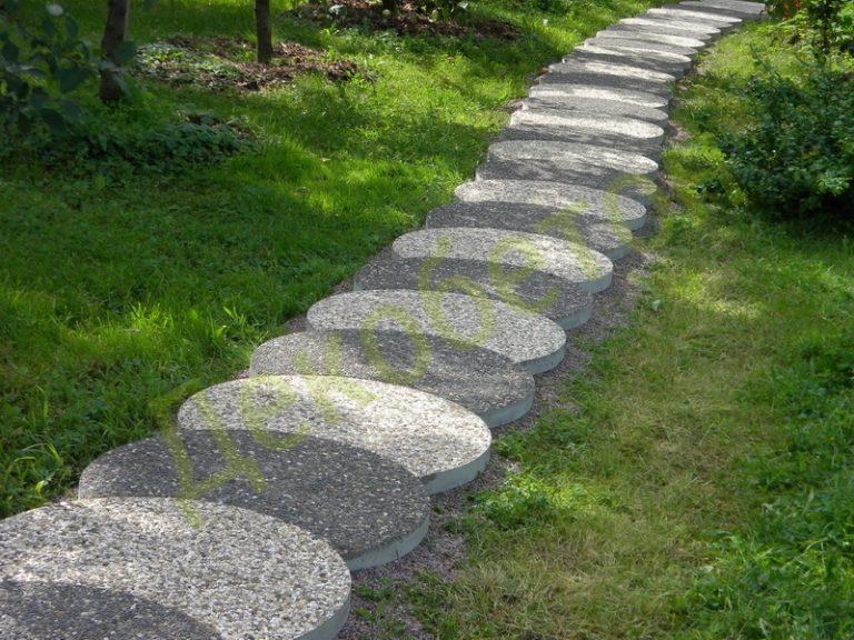 Плитка на садовые дорожки своими руками 26