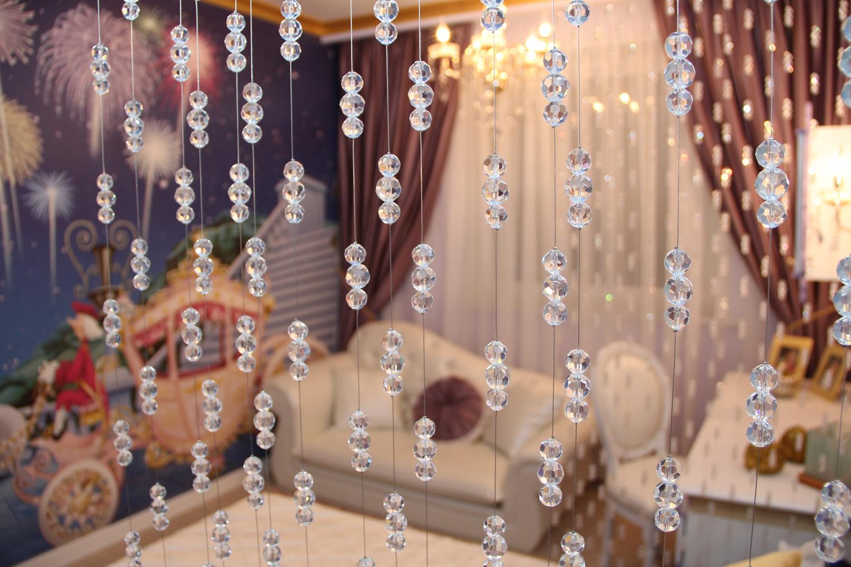 Декоративная штора из бусин своими руками 82