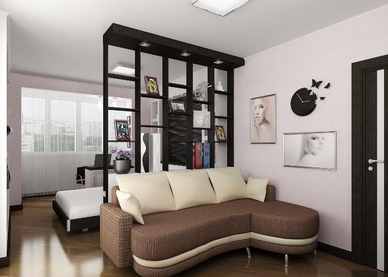 Перегородки для зонирования пространства в комнате