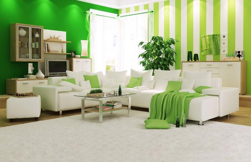 Как выбрать зеленые обои