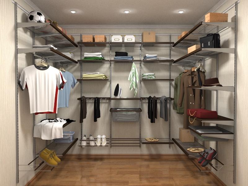 Какие бывают системы хранения вещей для гардеробной конструктор