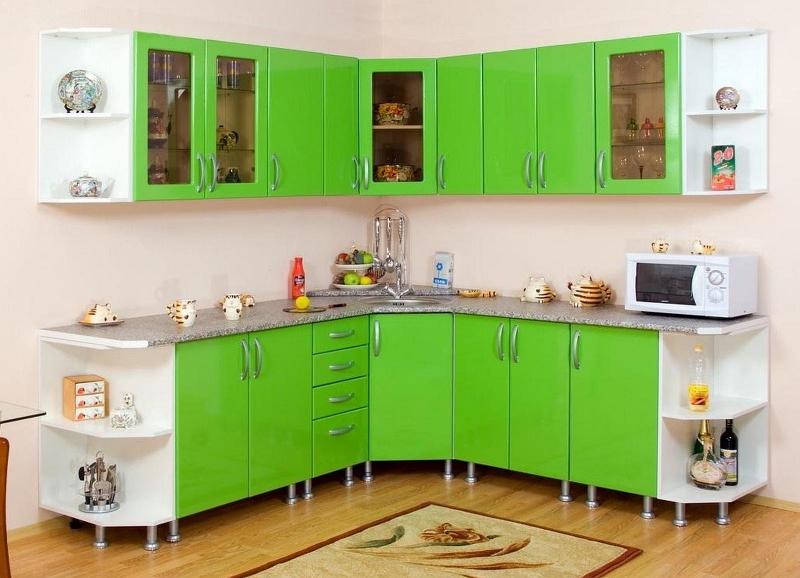 Выбираем мойку для кухонного гарнитура с угловой раковиной