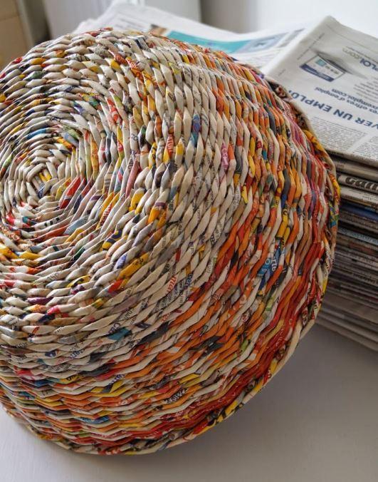 лаунчер смело окраска газетных трубочек после плетения оформления свидетельства