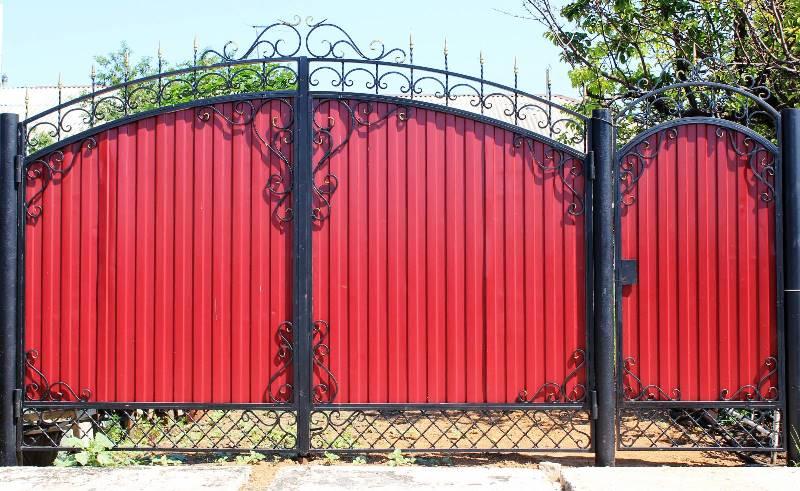 Как сделать ворота из профлиста?