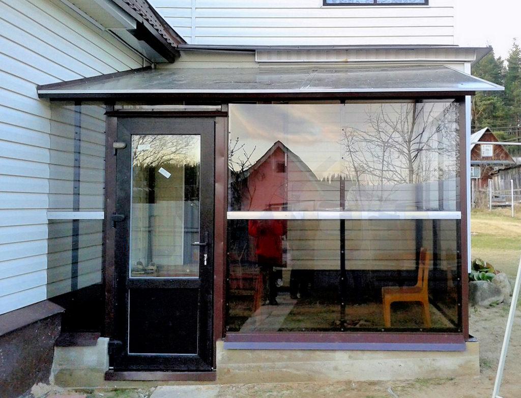 прежней авроры закрытое крыльцо к дому из поликарбоната фото мой