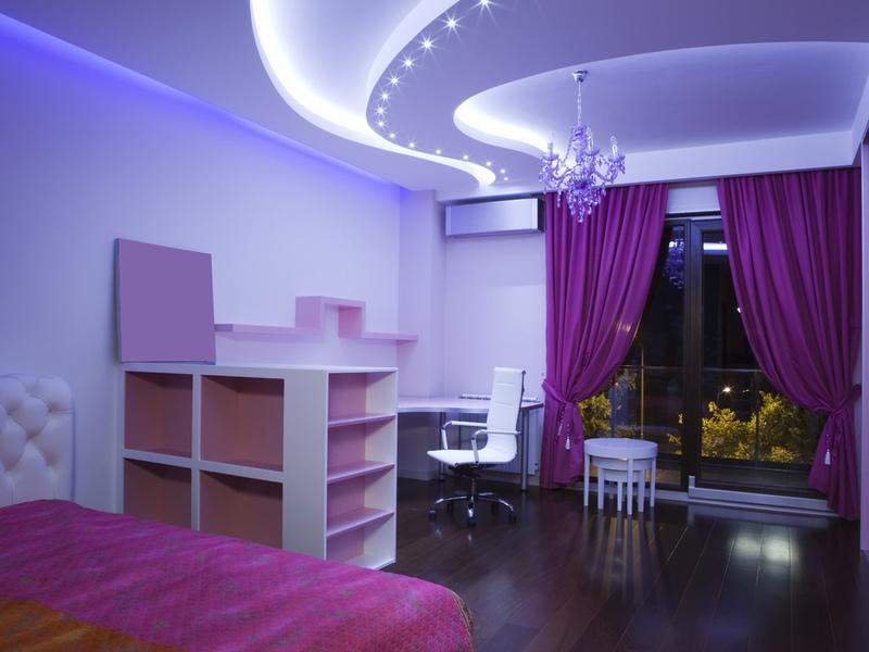 Натяжные потолки для спальной комнаты: основные характеристики и варианты дизайна