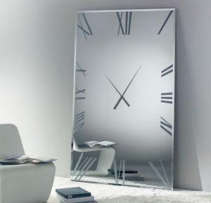 В каком помещении установить часы зеркало на стену?