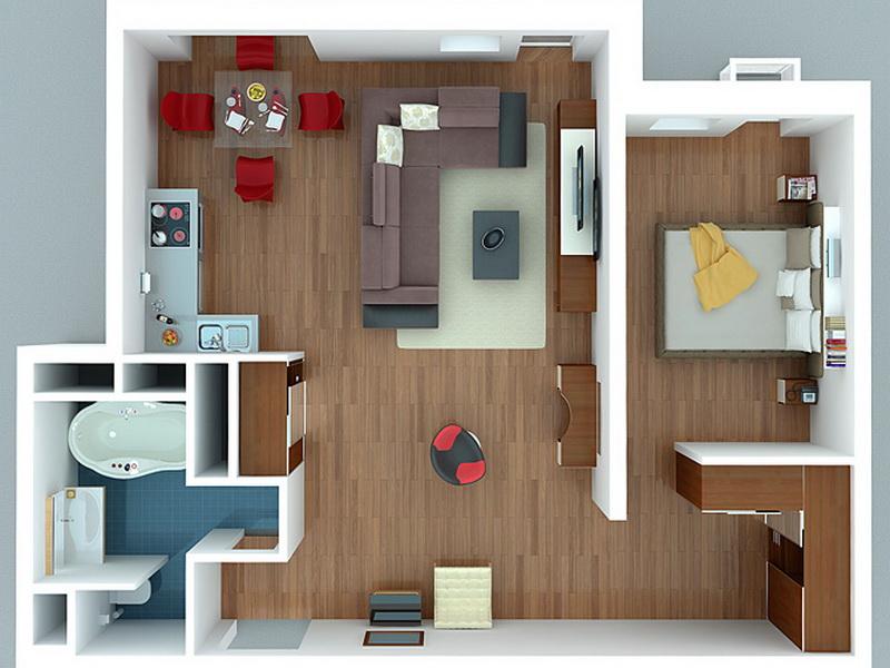 22ddc0d193775 Планировка однокомнатной квартиры: кухня на балконе, план студии ...