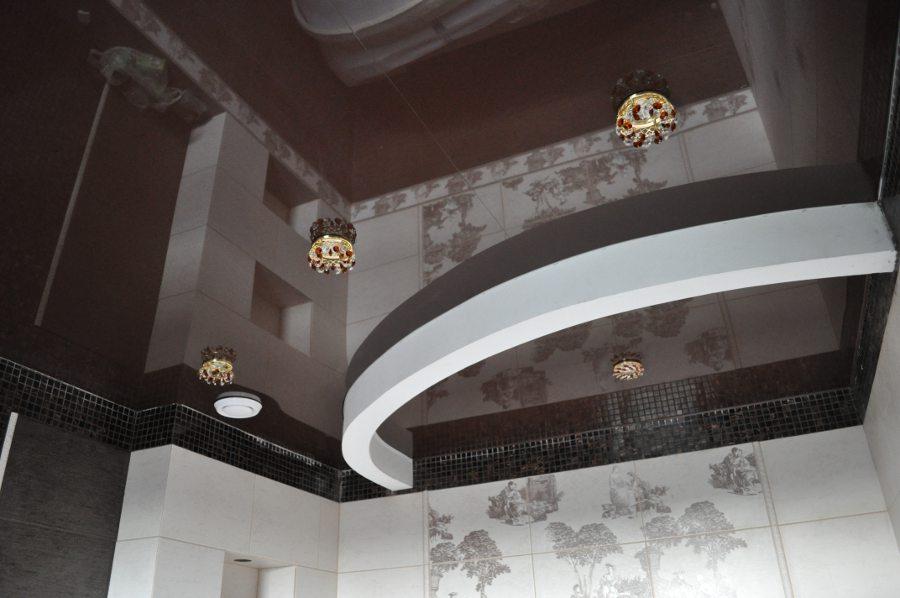 рулонных натяжные потолки шоколадного цвета фото прямой связи студией