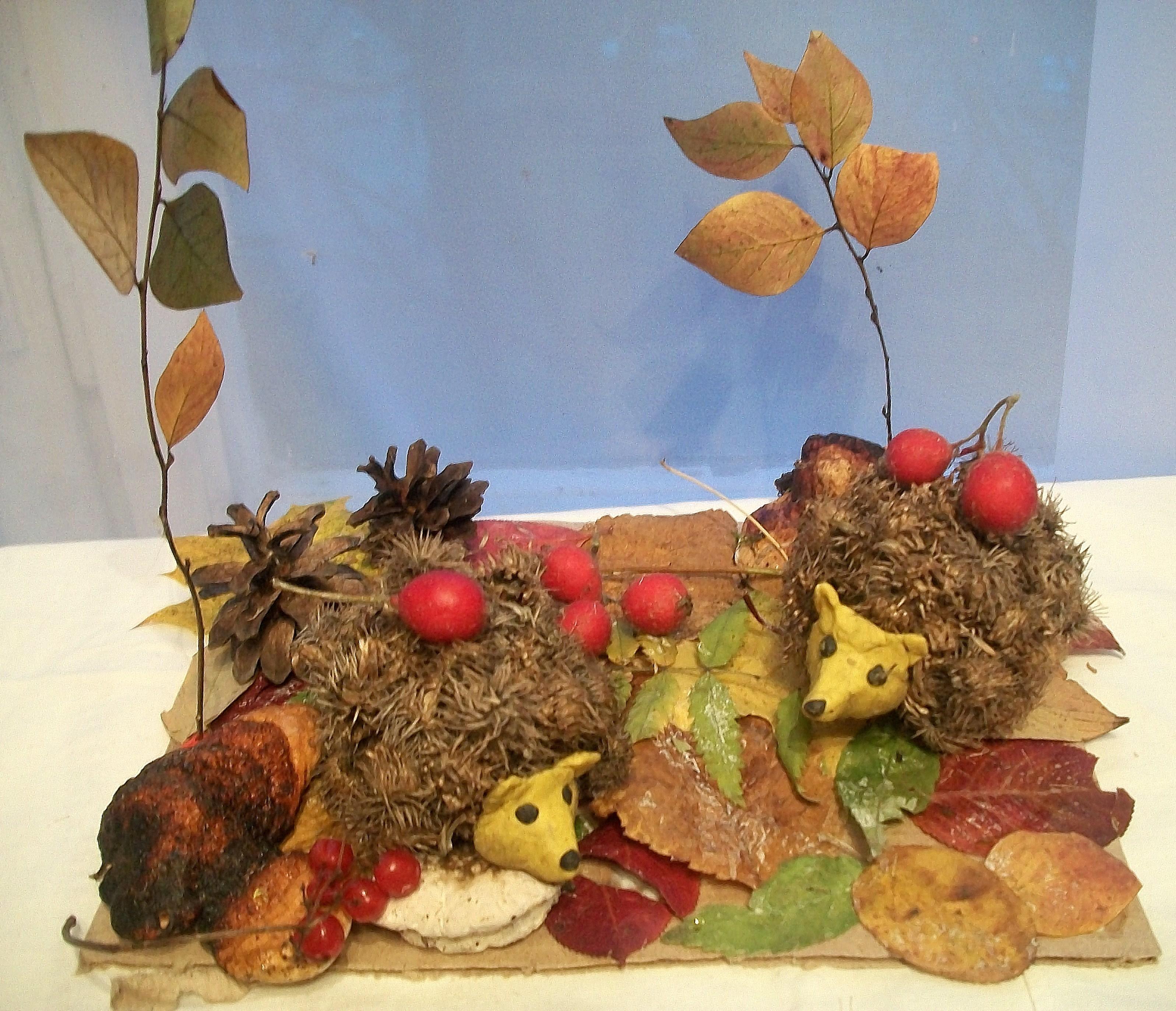 Поделки золотая осень своими руками из природного фото 365