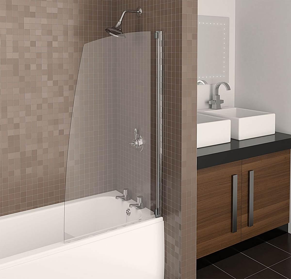 Стеклянная шторка для ванной своими руками 140