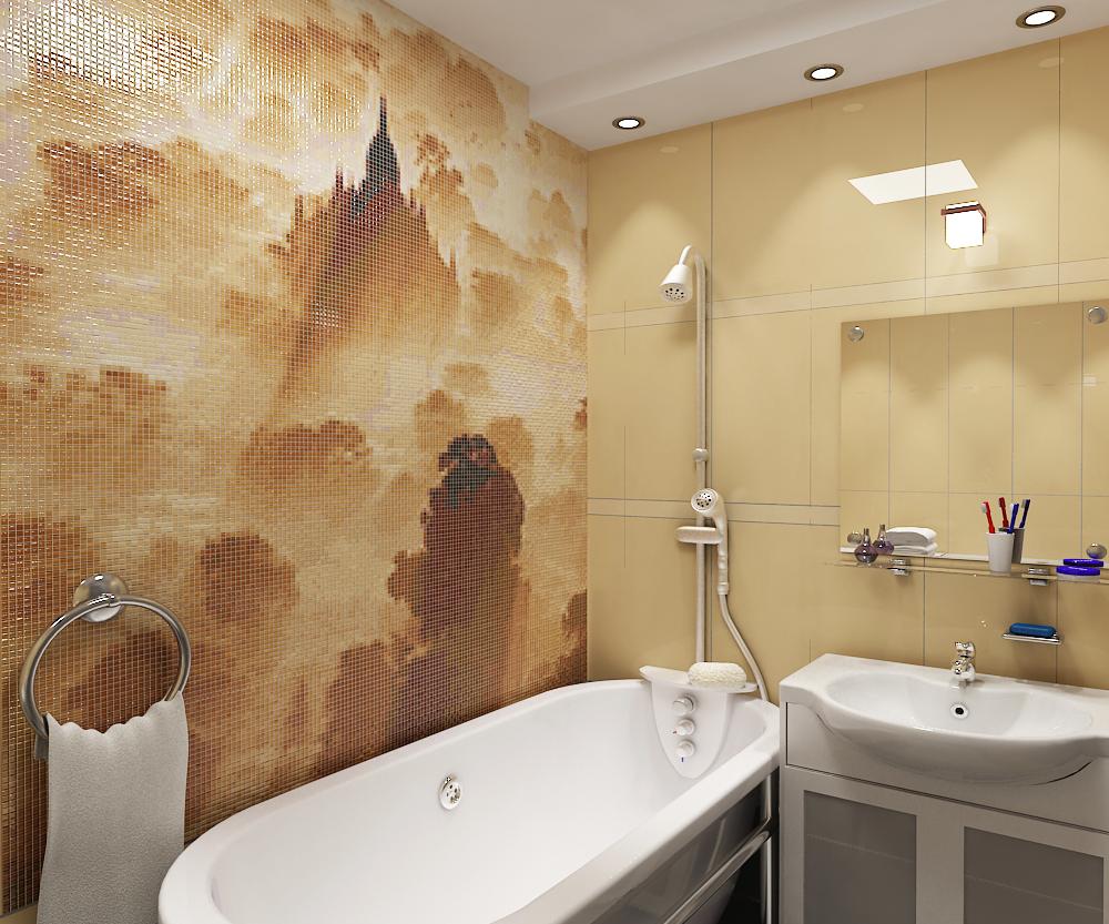 Мозаика в ванной комнате: варианты использования, преимущества материала