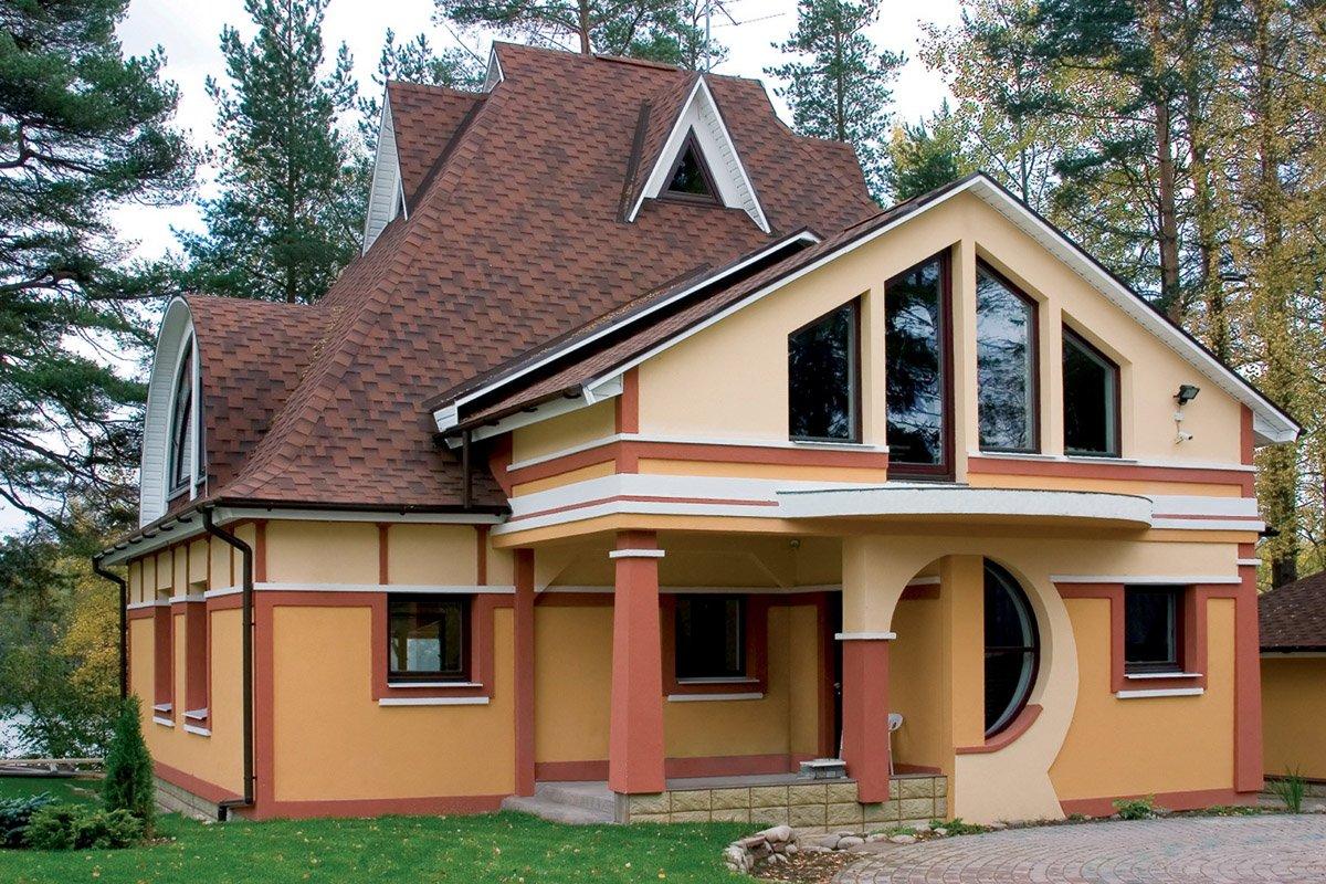 Дома с жилой крышей фото