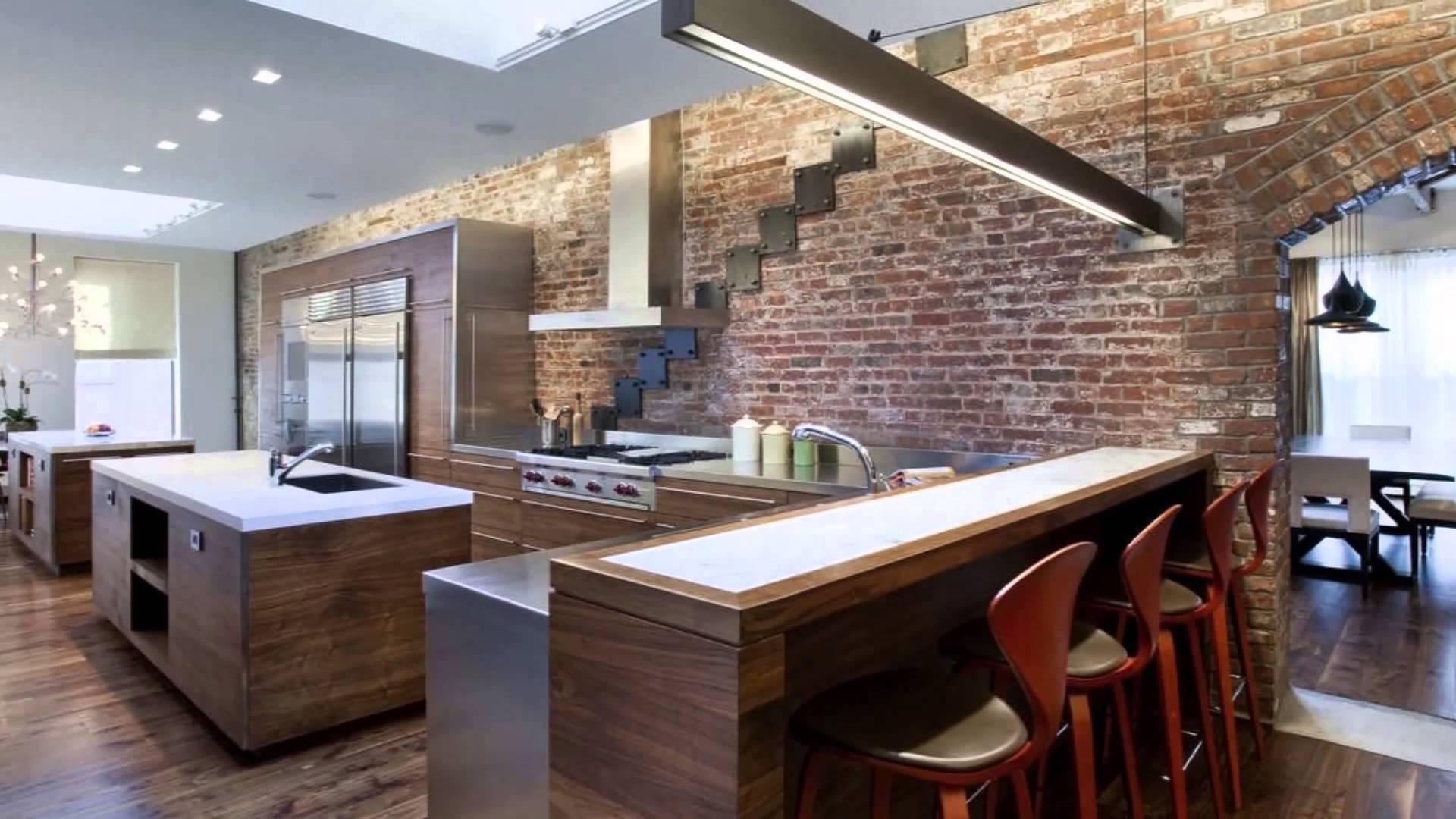 Идеи дизайна интерьера кухни в стиле лофт