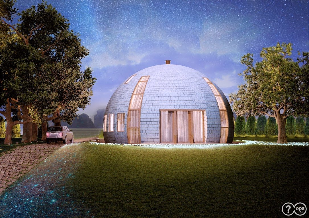 круглые купольные дома фото тонкие