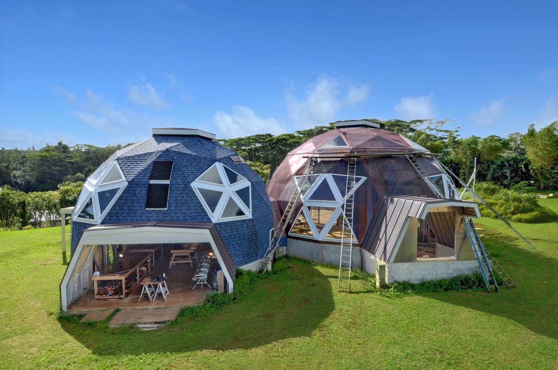 круглые купольные дома фото технологии