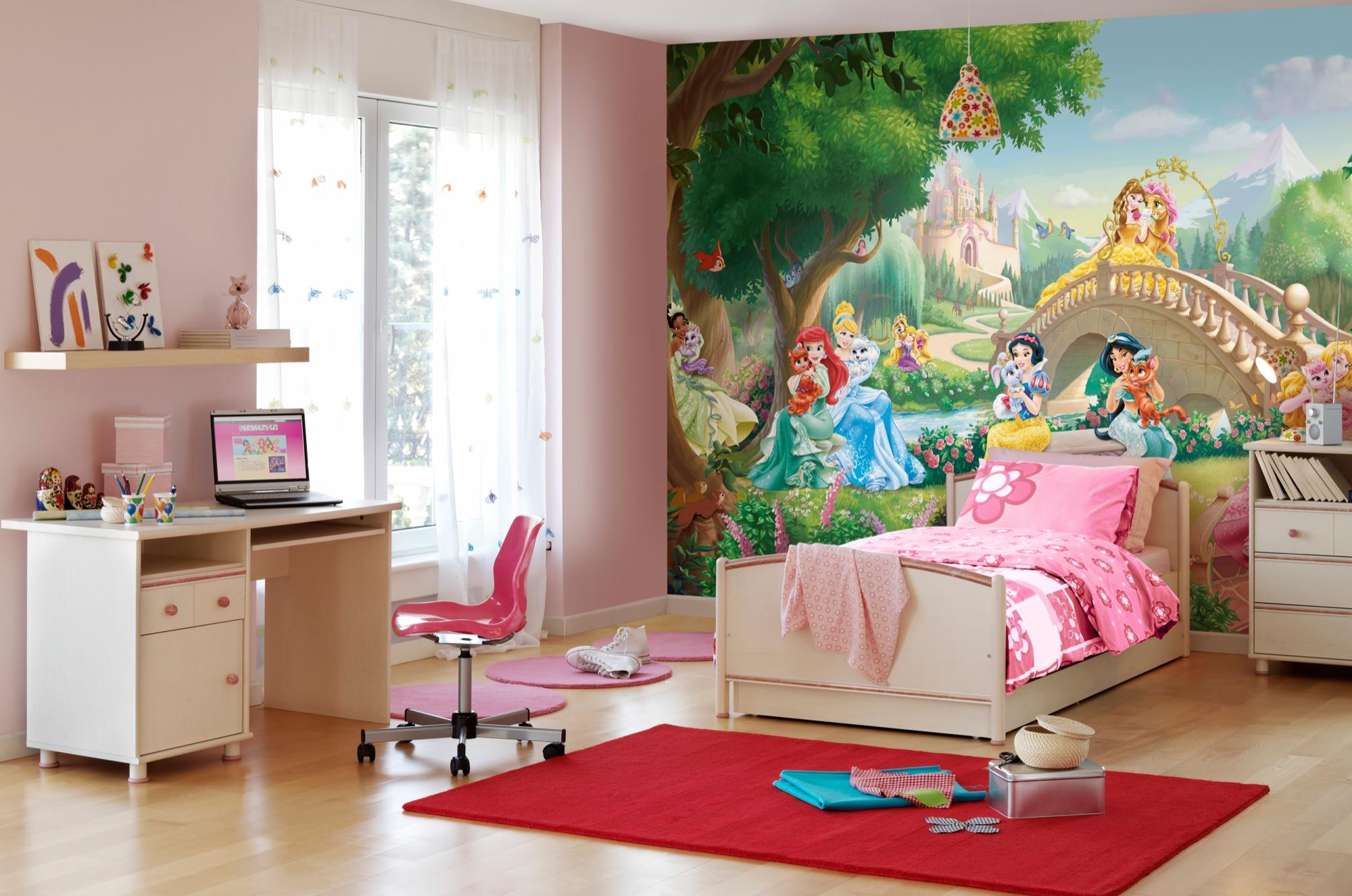 Детский мир: как правильно подобрать обои для спальни девочки