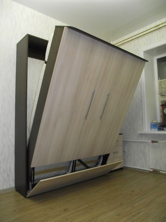 Кровать-шкаф (57 фото): откидная, встроенная икеа, складные .
