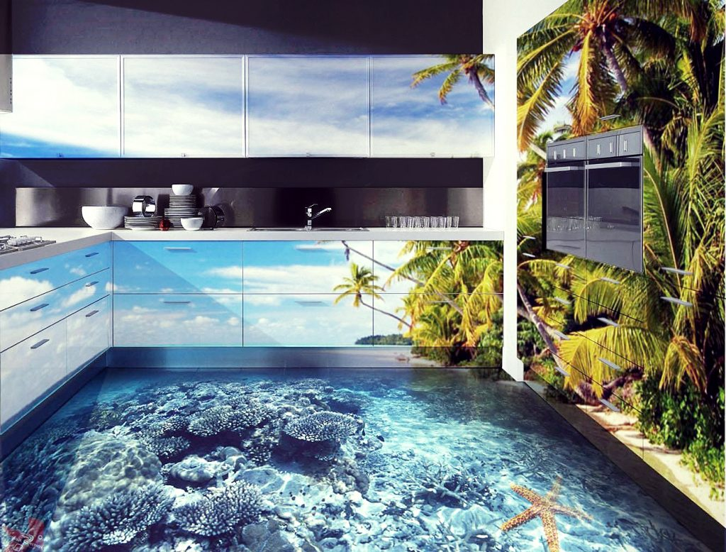 3D-полы: современные технологии, рекомендации дизайнеров, фото готовых интерьеров