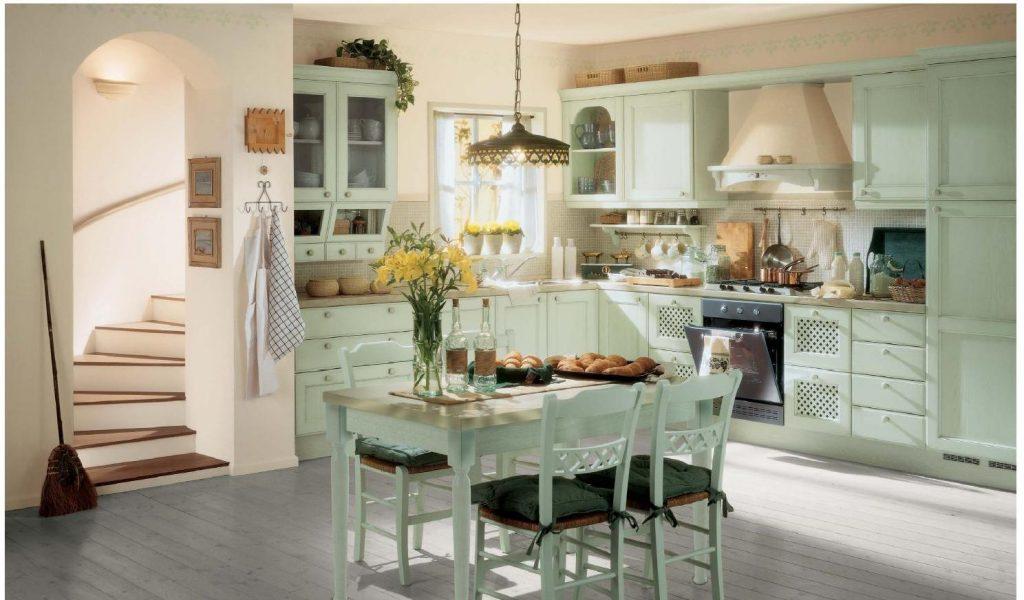 Кухни в стиле кантри в дизайне квартиры