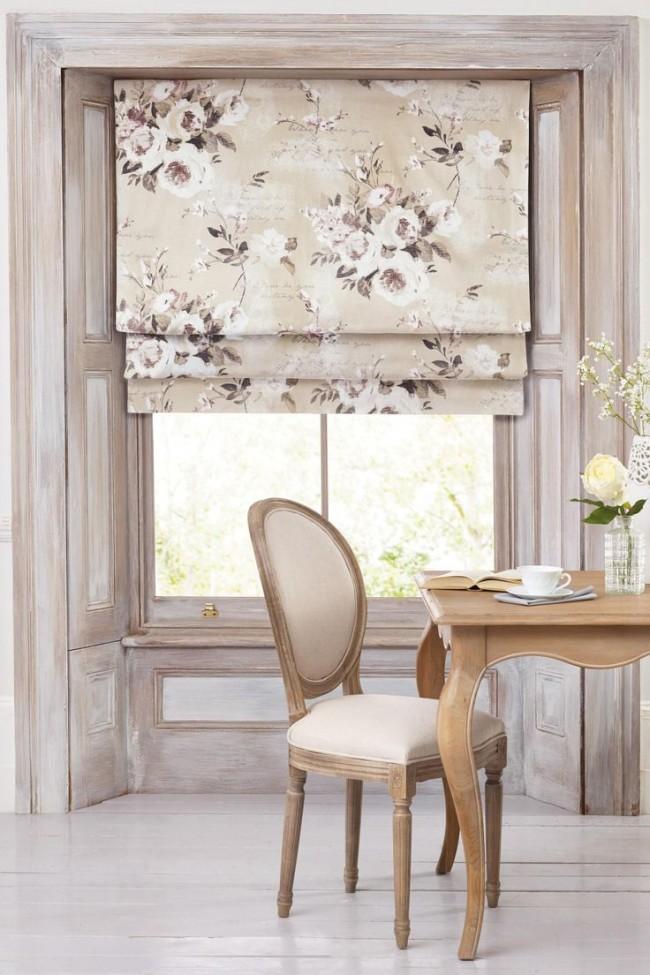 Рулонные шторы в дизайне интерьера