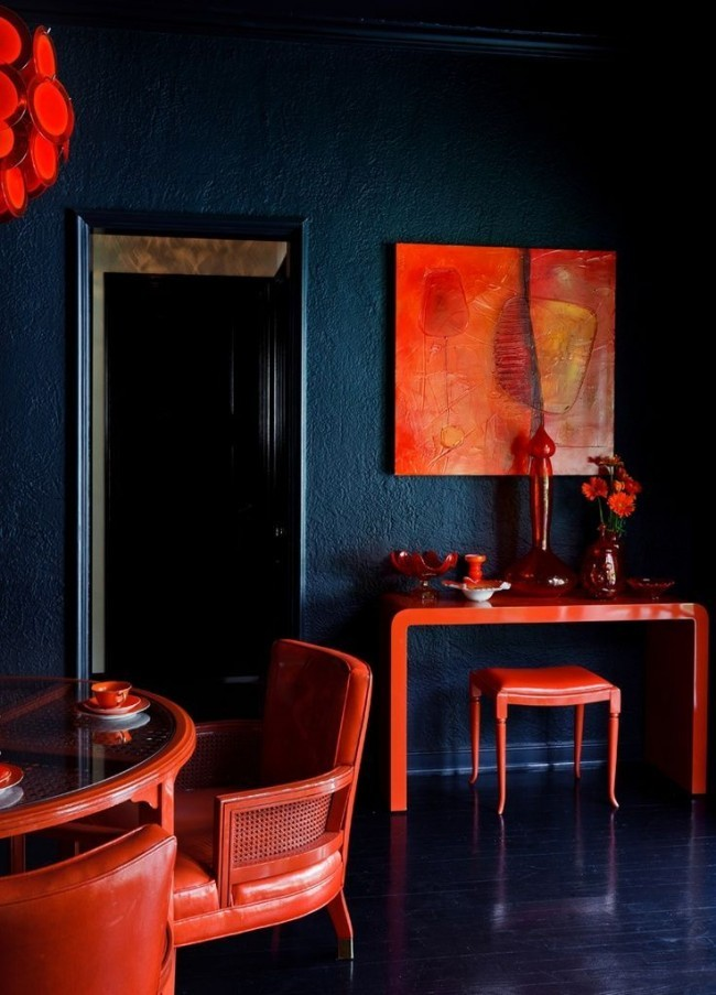 Терракотовый цвет в дизайне интерьера