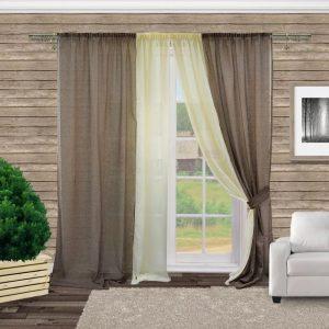 Использование льняных штор в интерьере