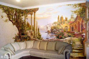 На смену фотообоям: роспись стен в квартире