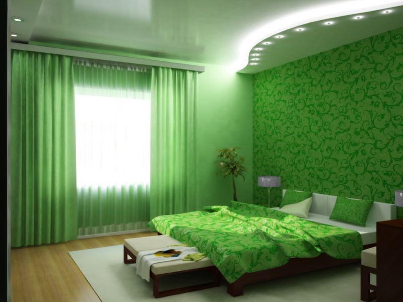Умиротворяющий зеленый цвет в интерьере
