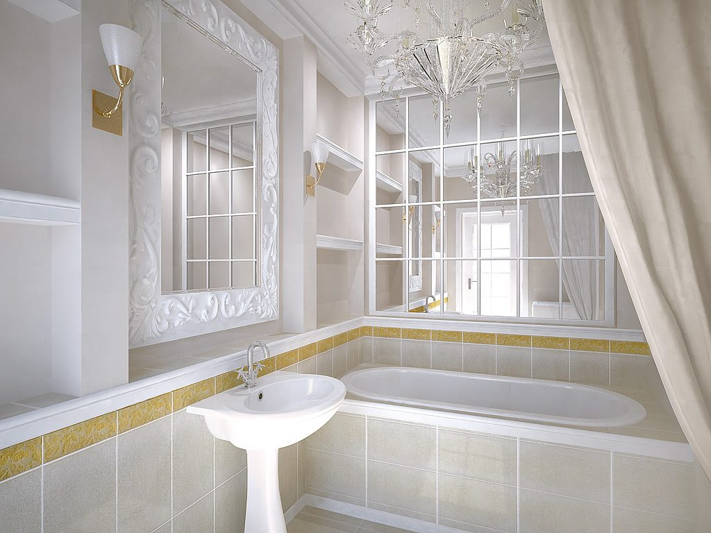 Роль зеркала в интерьере ванной комнаты