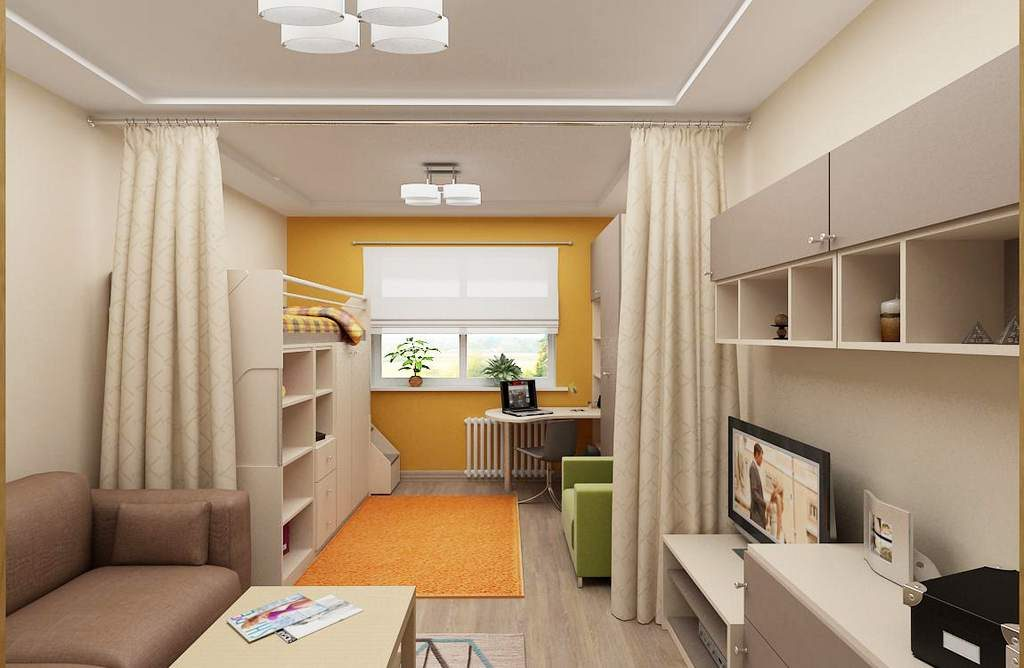 Идеи зонирования однокомнатной квартиры для семьи с ребенком