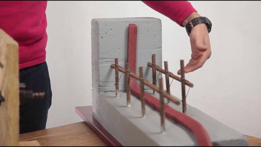 Применение и крепление бентонитового шнура